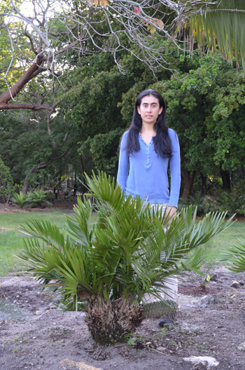 A Photo of Cristina Lopez Gallego with a Zamia species