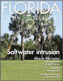The Cover of Florida Turf Digest, August 2014