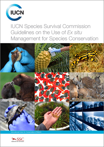 The cover of the IUCN Species Survival Commission Guidelines on the use of Ex situ Management for Species Conservation