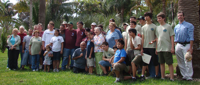 Group Photo of the Boy Scout volunteers