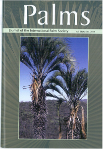 The Cover of Palms: the Journal of the International Palm Society, December 2014
