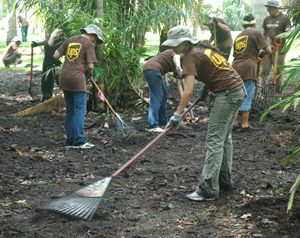 UPS Global Volunteer Day at Montgomery Botanical Center
