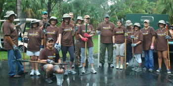 UPS Global Volunteer Day at Montgomery Botanical Center, October 24, 2009.