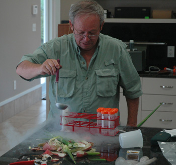 Photo of Dr. Denis W. Stevenson in the lab