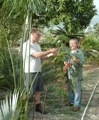 Damon Little and Dennis Stevenson at Montgomery Botanical Center (MBC).