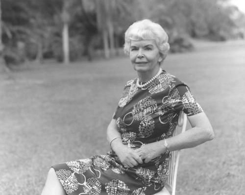 "Eleanor ""Nell"" Montgomery Jennings at Montgomery Botanical Center."