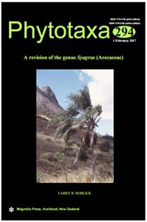 The cover of Phytotaxa 294, February 2017