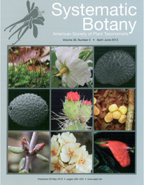 The cover of Systemic Botany, April - June 2013