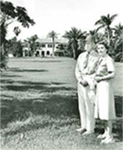 Dr. Robert and Nell Montgomery on the Estate in the 1940s