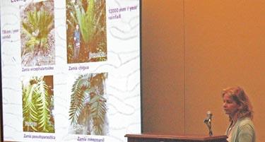 Photo of Dr. Boglarka Erdei presenting