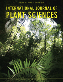 The cover of the International Journal of Plant Sciences, January 2015