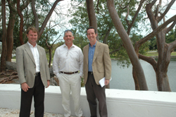 New Directors at Montgomery Botanical Center: Mark Smiley, David Manz, and Charles S. Sacher (left to right).