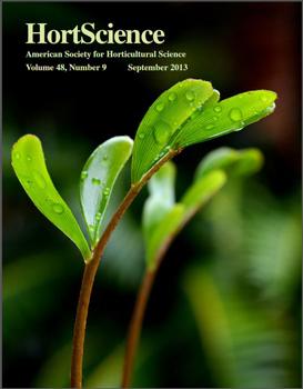 The cover of HortScience, September 2013