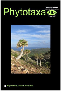 The cover of Phytotaxa 303, April 2017