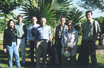 Photo of a group of scientists at Montgomery Botanical Center