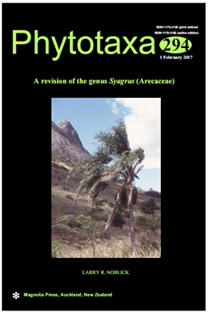 The cover of Phytotaxa 294, February 2017