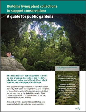 Living Plant Conservation Collections:  A Guide for Public Gardens