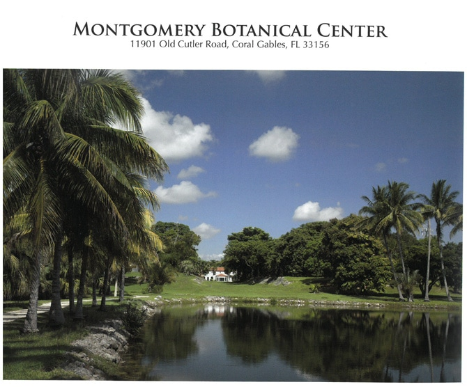 Montgomery Botanical Center Featured in the Award Winning Gardens of Miami Book!