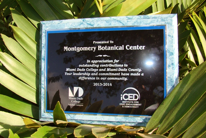 Miami Dade Honors Montgomery with Award